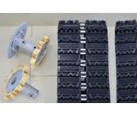 Комплект резиновых гусениц для мотобуксировщиков KOiRA T