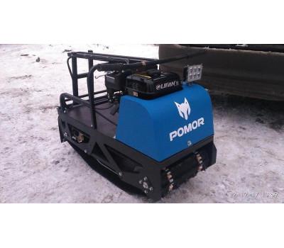Мотобуксировщик Pomor L-380 P (пневмо-колеса)