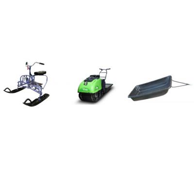 Комплект мотобуксировщик CR9V + Сани+Лыжный модуль